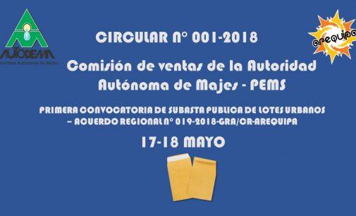CIRCULAR N° 001 – 2018