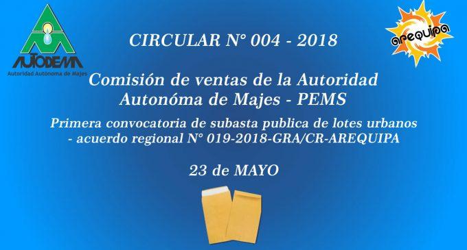 CIRCULAR N° 004 – 2018