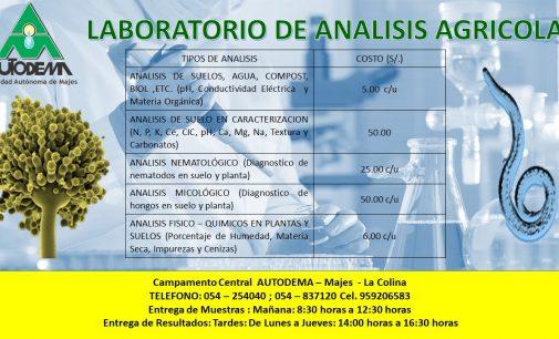 LABORATORIO DE ANÁLISIS AGROPECUARIOS