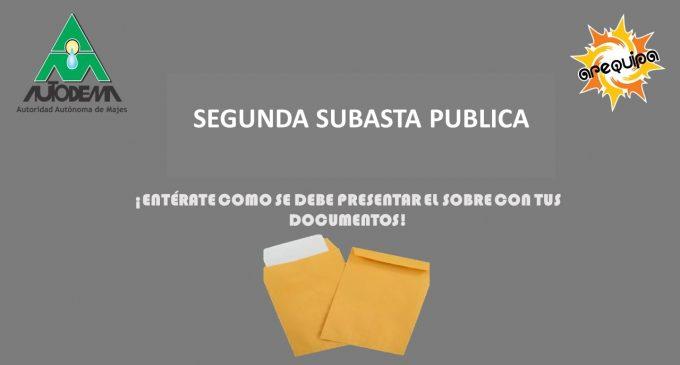 PRESENTACION DE SOBRES SEGUNDA SUBASTA PUBLICA DE LOTES URBANOS