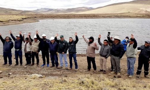 Autodema y Gobierno Regional de Arequipa inauguraron micropresa Occolloni Ccocha