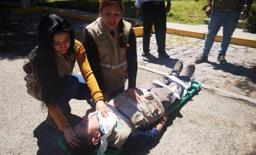 Personal y funcionarios de Autodema participaron en simulacro de sismo