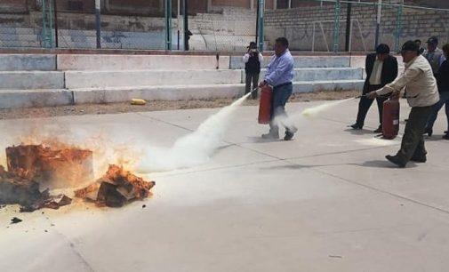 Autodema capacita a personal en prevención de incendios y uso de extintores
