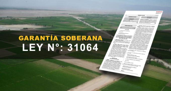EL Proyecto Majes Siguas II, ya cuenta con la Ley de garantías soberanas, Ley N° 31064.