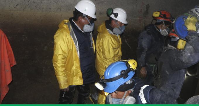 El Gerente Ejecutivo de Autodema, Ing. Napoleòn Ocsa Flores, viene supervisando los trabajos de mantenimiento en el sistema de aducción Tuti – Tùnel Terminal.