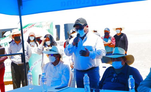 GOBERNADOR REGIONAL DE AREQUIPA, GERENTE EJECUTIVO DE AUTODEMA Y AUTORIDADES DE CAYLLOMA VISITARON ÁREA RESERVADA PARA DAMNIFICADOS DEL PROYECTO MAJES I